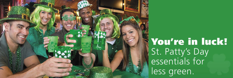 You're in Luck! St. Patty's Day Essentials for Less Green.